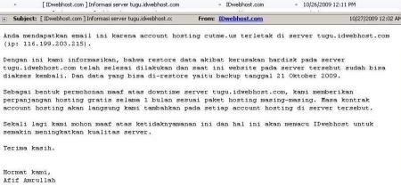 hosting murah webhosting